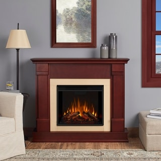 Silverton Electric Fireplace Dark Mahogany - 48L x 13W x 41H