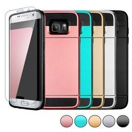 ShockProof Slim Hybrid Wallet Card Pocket Case Cover For Samsung Galaxy S7 Edge