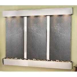 Adagio Deep Creek Falls Wall Fountain Black FeatherStone Slate Stainless Steel -