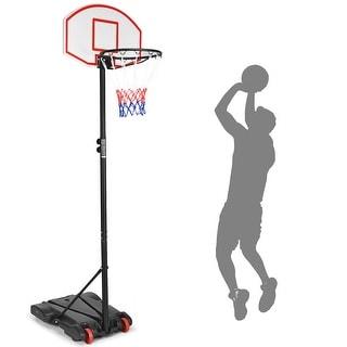 Costway Adjustable Basketball Hoop System Stand Kid Indoor Outdoor Net