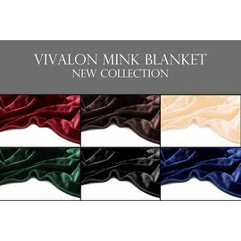 VIVALON Solid Color Silky Soft Heavy Duty Reversible Mink Queen and King Size Blanket
