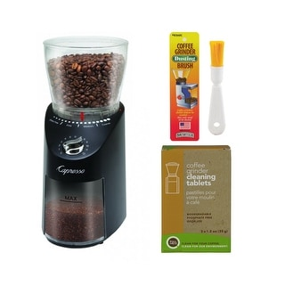 Capresso 570.01 Infinity Plus Conical Burr Grinder Black Bundle