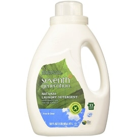 Seventh Generation Natural Laundry Detergent, Free & Clear 50 oz