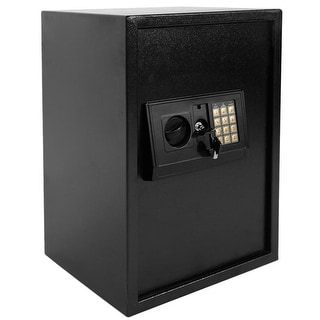 Security Safe with Digital Electronic Lock, Office/Home Safe Box - Includes Keys and Batteries