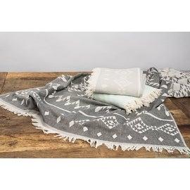 Aztec Tribal Bohemian Turkish Cotton Beach,Bath Towel,Soft,Oversize,Kilim Towel,Throw,Blanket 73'x38'