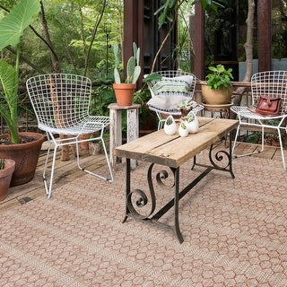 The Curated Nomad Havannah Indoor/ Outdoor Geometric Area Rug