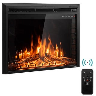 GoFlame 36'' 750W-1500W Fireplace Heater Electric Embedded Insert