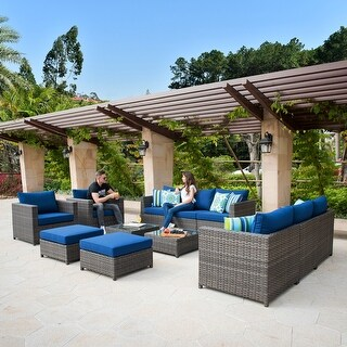 Ovios Patio Furniture Deep Seat Outdoor Furniture 12-Piece Set