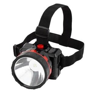 Unique Bargains AC 110V-240V US Plug Hiking Adjustable Head Strap White LED Headlamp Headlight