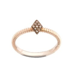 Brand New Round Brilliant Cut Natural Brown Diamond Stylist Ring
