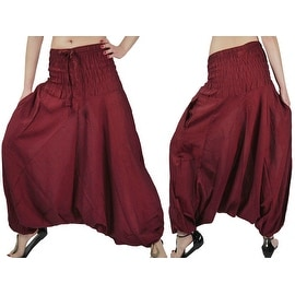 100-percent Cotton Wide Waist Boho Harem Yoga Baggy Pants