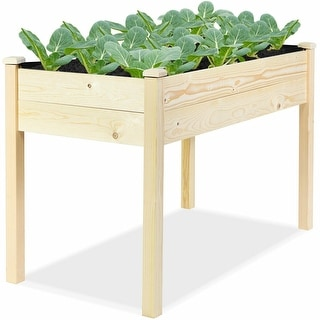 Wooden Raised Vegetable Garden Bed Elevated Grow Vegetable Planter