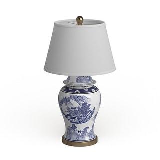"Safavieh Lighting 29-inches Shanghai Blue/ White Ginger Jar (Set of 2) - 17""x17""x29.5"""