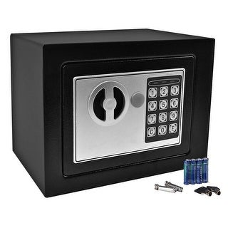 Gymax Durable Digital Electronic Safe Box Keypad Lock Black