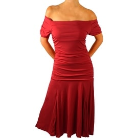 Funfash Plus Size Apple Red Womens Cocktail Cruise Dress