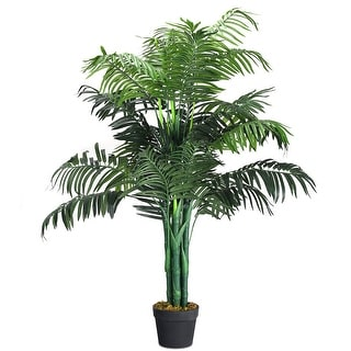 Gymax Artificial Areca Palm Decorative Silk Tree w/Basket 3.5 Feet