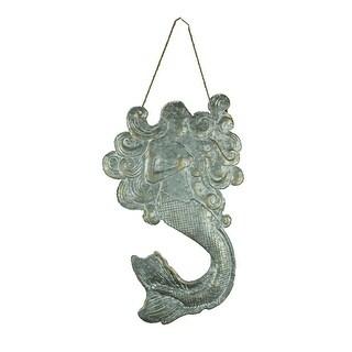 Vintage Rustic Embossed Tin Mermaid Wall Hanging