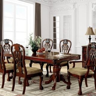 Furniture of America Harper 7-piece Formal Cherry Dining Set