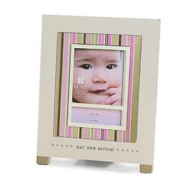 """Gund """"Our New Arrival"""" Baby Picture Frame, Pink"""