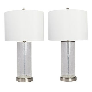Grady Crackle Glass Table Lamp - Set of 2