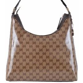 NEW Gucci Women's 339553 GG Guccissima Crystal Line GG Pendant Hobo Purse
