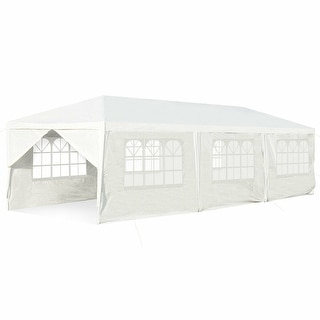 Gymax 10'x30' Outdoor Heavy-duty Gazebo Wedding Canopy Party Pavilion