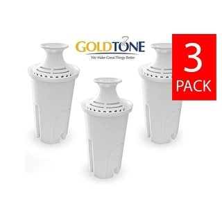 GoldTone Activated Charcoal Water Filters for BRITA and MAVEA Water Pitchers - Replacement Jug Water Pitcher Filter - (3 Pack)