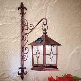 Decorative Coach-style Solar Wall Lantern