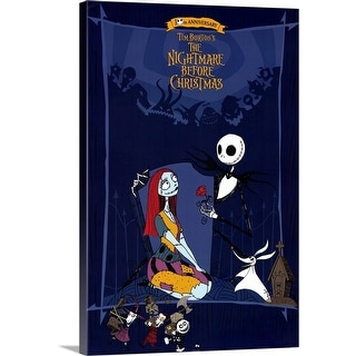 """Tim Burtons The Nightmare Before Christmas (1993)"" Canvas Wall Art"