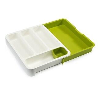 Joseph Joseph DrawerStore Expandable Cutlery Tray, Green - multi