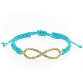 Infinity Macrame Bracelet (Blue & Gold) - Exclusive Beadaholique Jewelry Kit