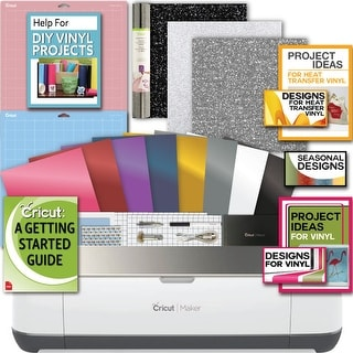Cricut Champagne Maker Machine Bundle 4 Smooth Heattransfer Vinyl Design/Projects Guide