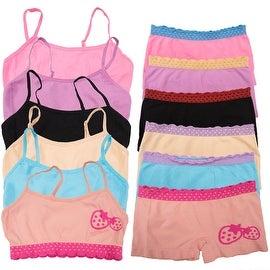 Girl's 6 Pack Seamless Strawberry Print Underwear Set