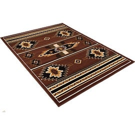 """Allstar Dark Brown Woven High Quality Rug. Traditional. Persian. Flower. Western. Design Area Rugs (3' 9"""" x 5' 1"""")"""