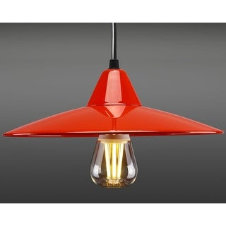 Red Industry Style Pendant, Vintage Ceiling Light, Kitchen/Bar