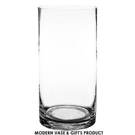 """CYS® Glass Cylinder Vase. H-12"""", Open D-6"""""""