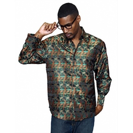 MZT-221 Men's Manzini Paisley Woven Shirt French Cuff with Cufflink Included