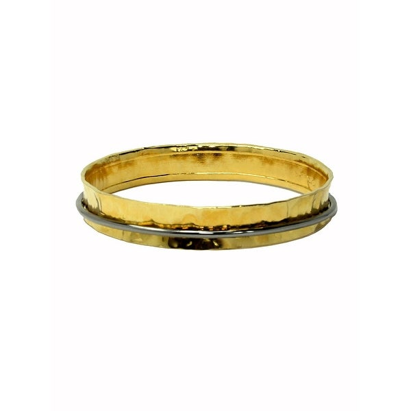 Hammered Concave Bangle