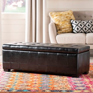 "Safavieh Large Black Manhattan Storage Bench - 46.9"" x 18.3"" x 16.7"""
