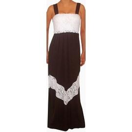 Funfash Plus Size Black White Lace Chevron Maxi Long Dress Women Dress