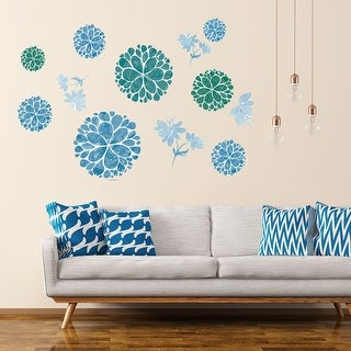 Elegant Flower Pattern Wall Stickers Removable Art Decal for Bedroom Living Room