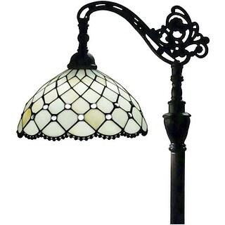 "Tiffany Style White Jewel Reading Lamp 62"" AM121FL12 Amora Lighting"