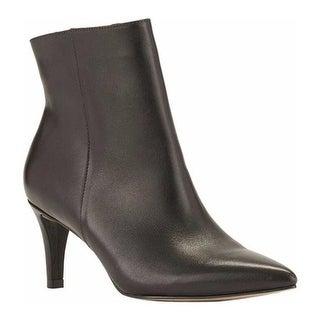 Walking Cradles Women's Shine Bootie Black Cashmere Leather
