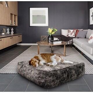 Bessie and Barnie Koala Ultra Plush Faux Fur Luxury Durable Sicilian Rectangle Pet/Dog Bed