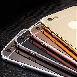 Luxury Aluminum Ultra-thin Mirror Metal Case Back Cover for iPhone 6 PLUS / 6S PLUS