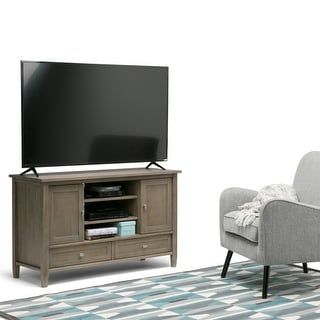 WYNDENHALL Norfolk SOLID WOOD 47 inch Wide Rustic TV Media Stand For TVs up to 50 inches