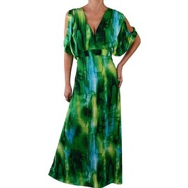 Funfash Plus Size Dress Green Womens Long Maxi Cocktail Dress
