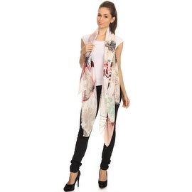 Watercolor Butterfly Print Large Light Weight Blanket Scarf Shawl