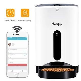 Gymax Automatic Pet Feeder Smart Cat Dog Food Dispenser Remote Control