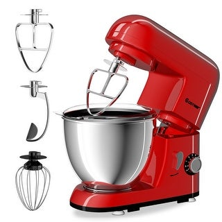 Costway Electric Food Stand Mixer 6 Speed 4.3Qt 550W Tilt-Head